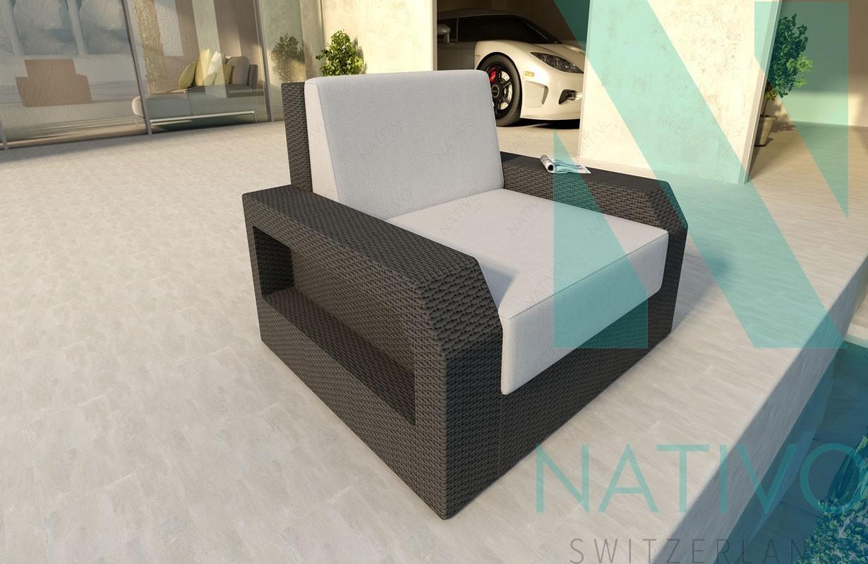 Rattan Lounge Sofa ATLANTIS 1 Sitzer v1 von NATIVO Möbel