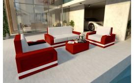 Lounge Set en rotin MESIA 2+1+1