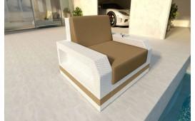 Rattan Lounge Sofa MESIA 1 Sitzer