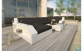 Canapé Lounge en rotin MATIS XL