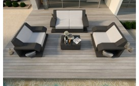 Set Lounge MATIS 2+1+1 in rattan
