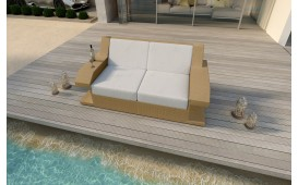 Canapé 2 places en rotin MATIS