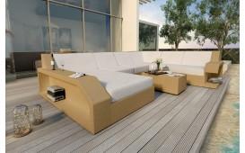 Canapé Lounge en rotin MATIS XXL