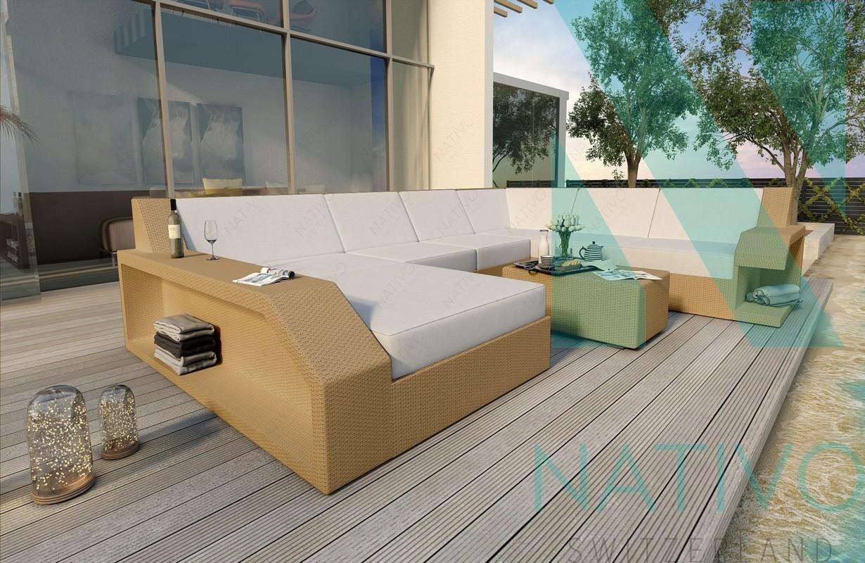 Rattan Sofa Lounge Modular MATIS XXL von NATIVO Möbel