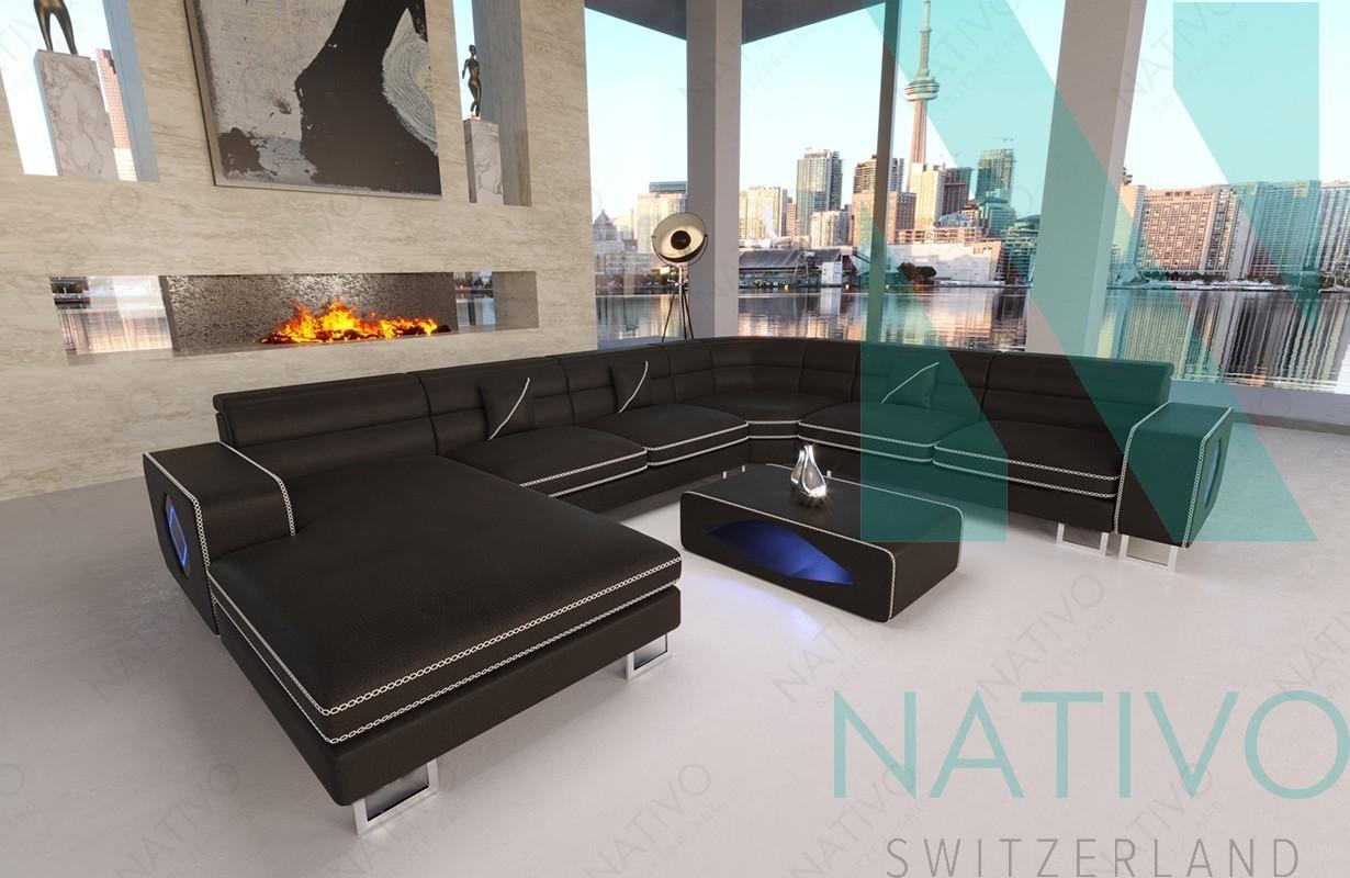 designer sofa gregory xxl mit led beleuchtung von nativo mobel schweiz