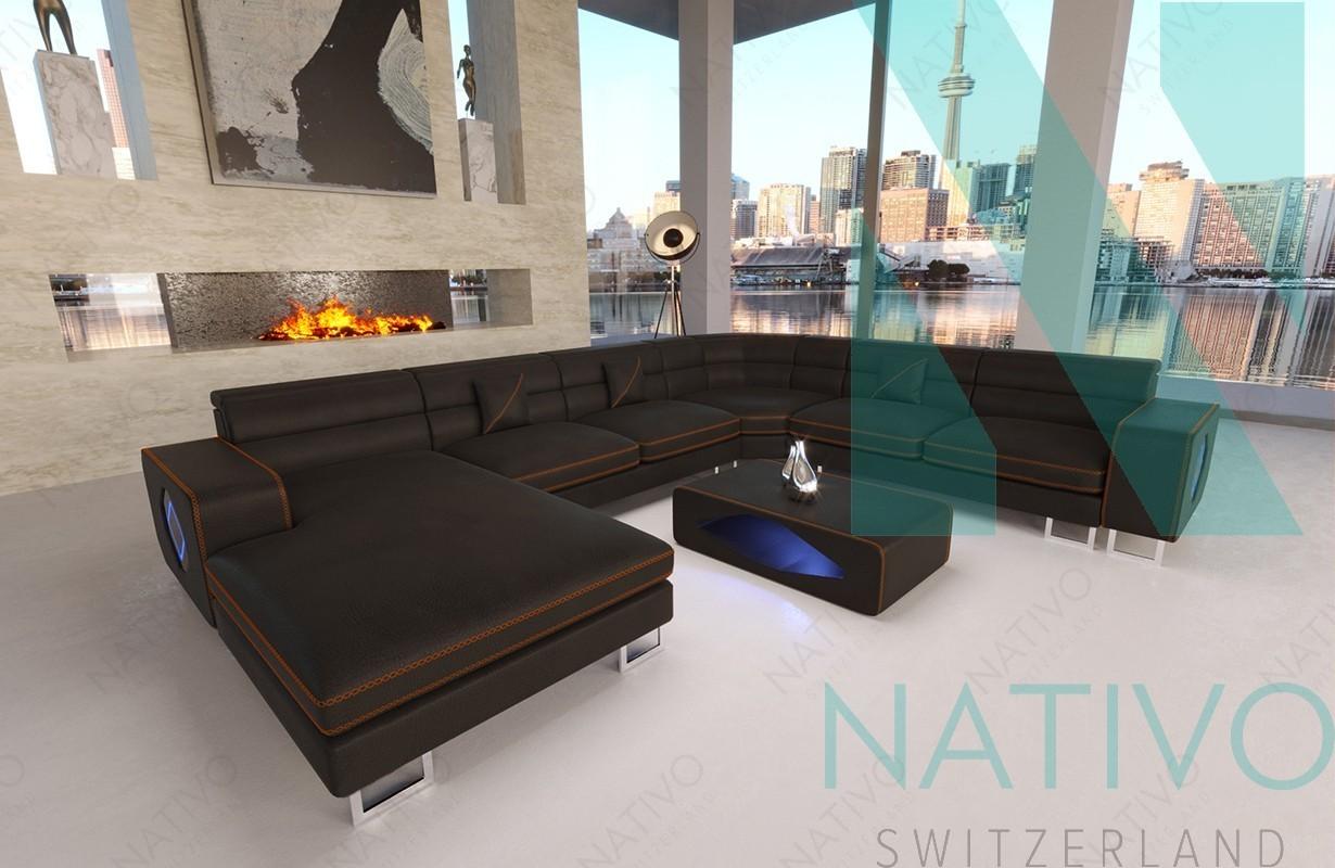 designer ledersofa gregory xxl bei nativo m bel schweiz. Black Bedroom Furniture Sets. Home Design Ideas