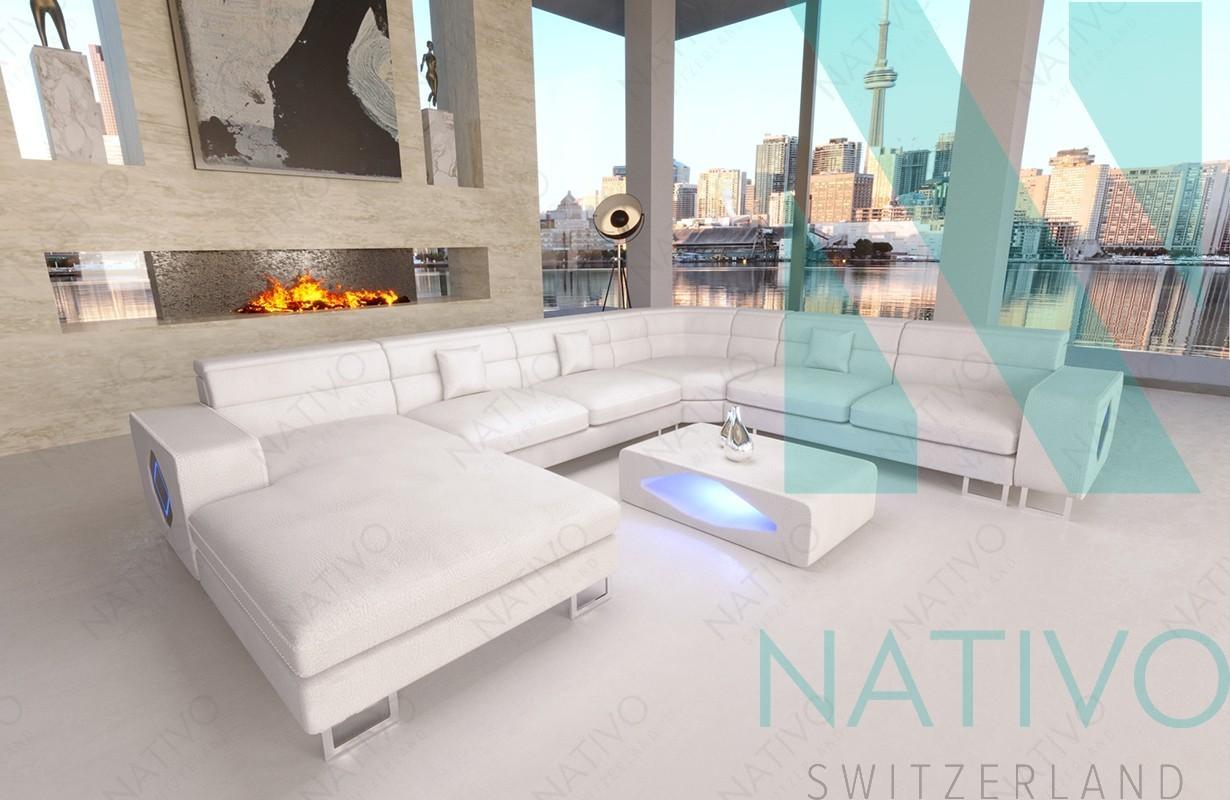 Designer Ledersofa GREGORY XXL bei NATIVO Möbel Schweiz online kaufen