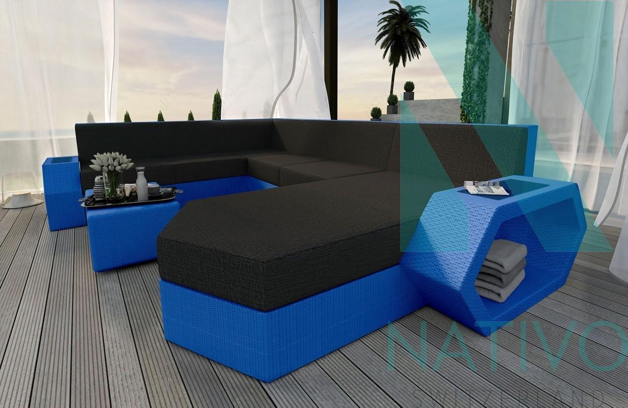 Rattan Sofa Lounge Modular CLERMONT XXL von NATIVO Möbel