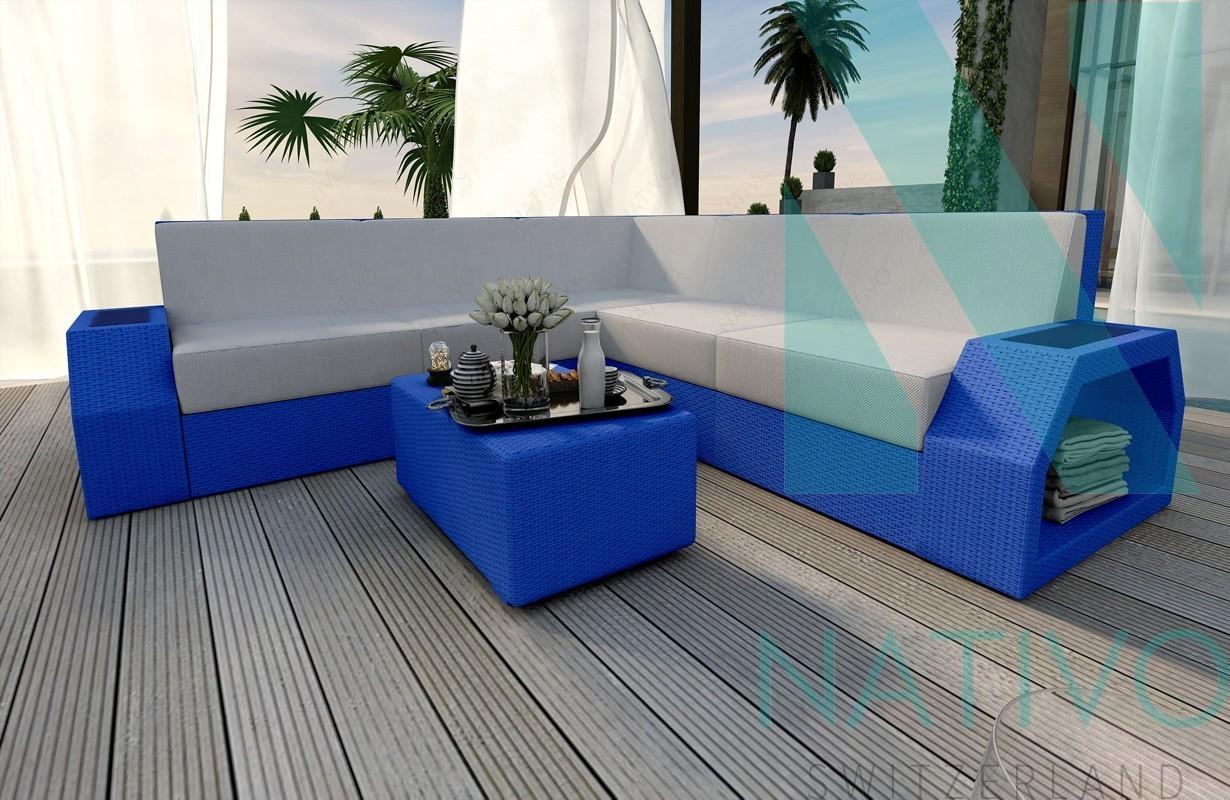 Rattan Sofa Lounge Modular CLERMONT CORNER von NATIVO Möbel