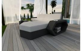 Designer Rattan Lounge Sofa CLERMONT MINI v1