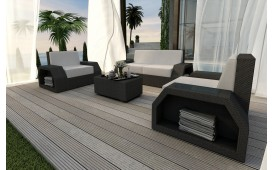 Rattan Lounge Set CLERMONT 2+1+1 v1