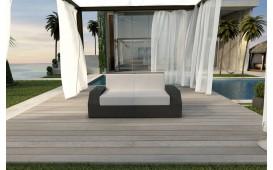 Rattan Lounge Sofa CLERMONT 2 Sitzer v1