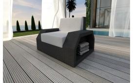 Rattan Lounge Sofa CLERMONT 1 Sitzer v1