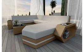 Designer Rattan Lounge Sofa CLERMONT XXL