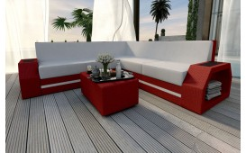 Canapé Lounge en rotin CLERMONT CORNER