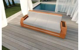 Rattan Lounge Sofa CLERMONT 3 Sitzer