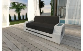 Rattan Lounge Sofa CLERMONT 2 Sitzer v2