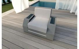 Rattan Lounge Sofa CLERMONT 1 Sitzer
