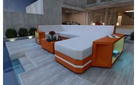 Canapé Lounge en rotin AVENTADOR XL v2