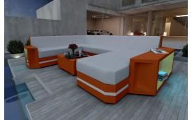 Canapé Lounge en rotin AVENTADOR XXL v2