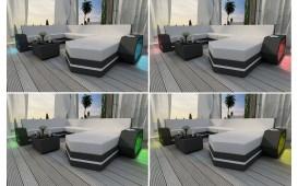 Canapé Lounge en rotin CLERMONT XL v2