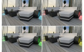 Rattan Lounge Set CLERMONT 2+1+1 v2 von NATIVO™ Designer Möbel Schweiz