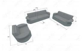 Rattan Lounge Sofa ATLANTIS 3 Sitzer v1 NATIVO™ Möbel Schweiz