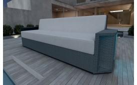 Rattan Lounge Sofa AVENTADOR 3 Sitzer v1