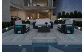 Lounge Set en rotin AVENTADOR 2+1+1