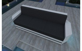 Canapé 3 places en rotin AVENTADOR v2