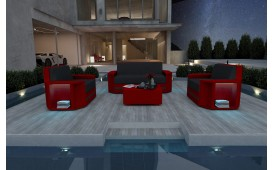 Set Lounge AVENTADOR 2+1+1 v2 in rattan