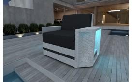 Rattan Lounge Sofa AVENTADOR 1 Sitzer v2