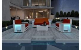 Lounge Set en rotin AVENTADOR 2+1+1 v2