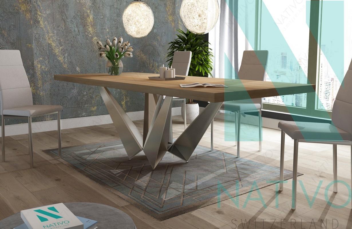 Designer massivholz esstich excalibur v 3 von nativo m bel for Designer esstisch outlet