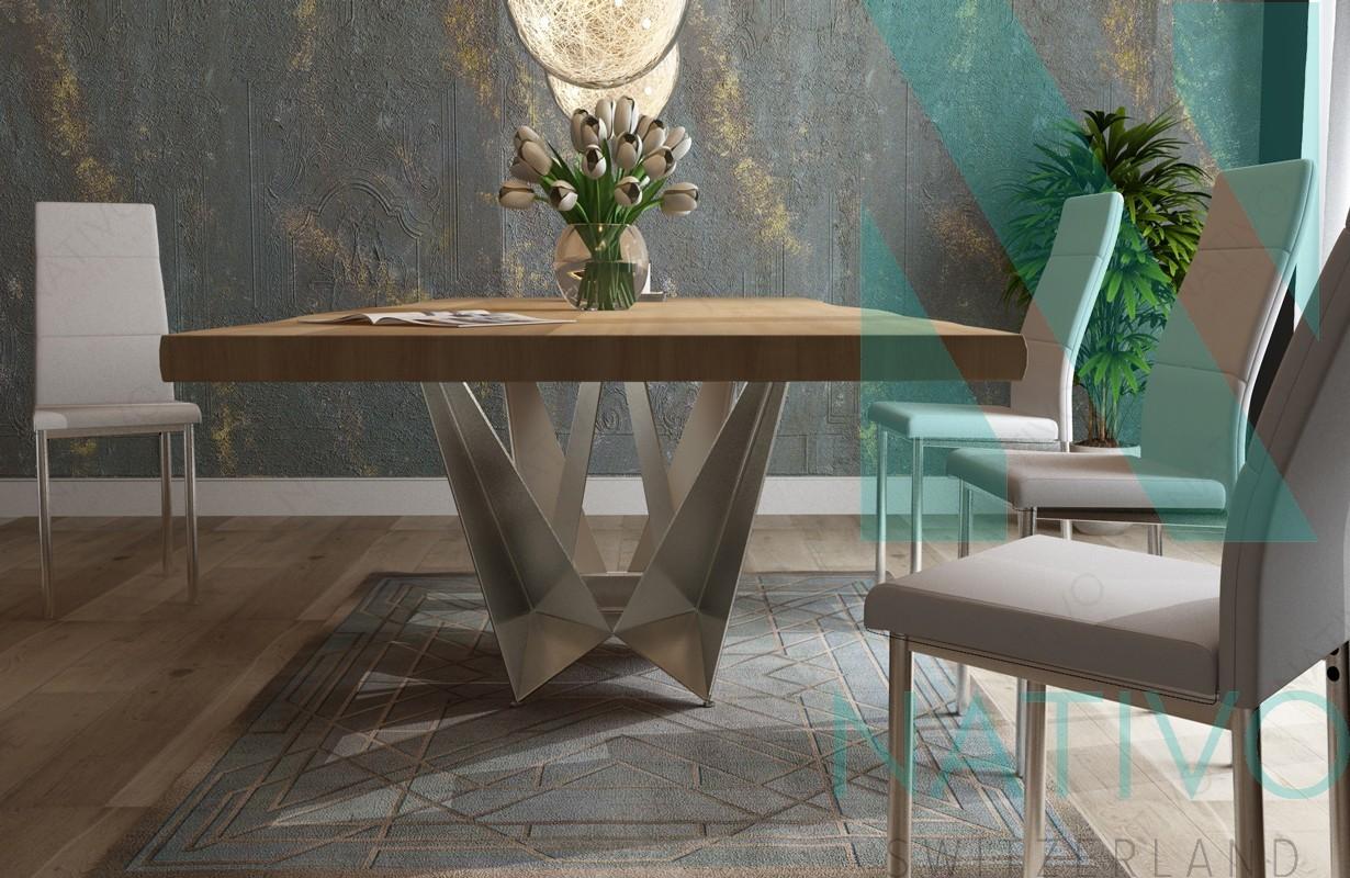 table design excalibur nativo mobilier design suisse. Black Bedroom Furniture Sets. Home Design Ideas