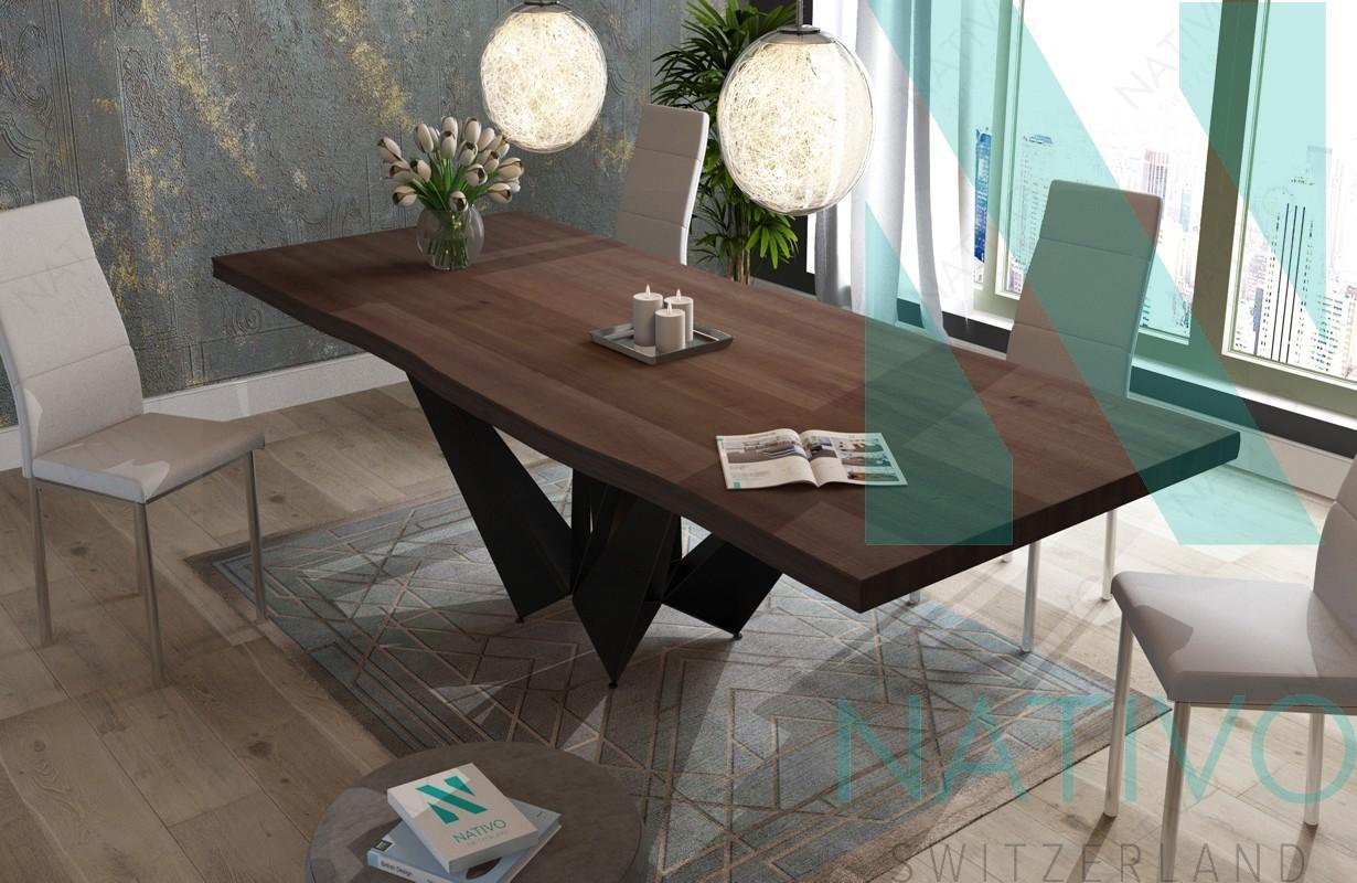 Table design excalibur nativo mobilier design suisse for Mobilier en suisse