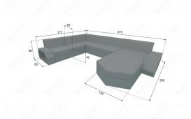 Canapé Lounge en rotin CLERMONT XXL v2