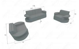 Set Lounge ATLANTIS 2+1+1 v2 in rattan