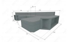 Designer Rattan Lounge Sofa AVENTADOR XL v1 NATIVO™ Möbel Schweiz
