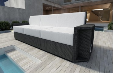 Rattan Lounge Sofa AVENTADOR 3 Sitzer v1 NATIVO™ Möbel Schweiz
