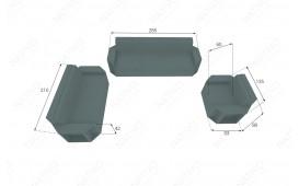 Rattan Lounge Sofa AVENTADOR 1 Sitzer v2 NATIVO™ Möbel Schweiz