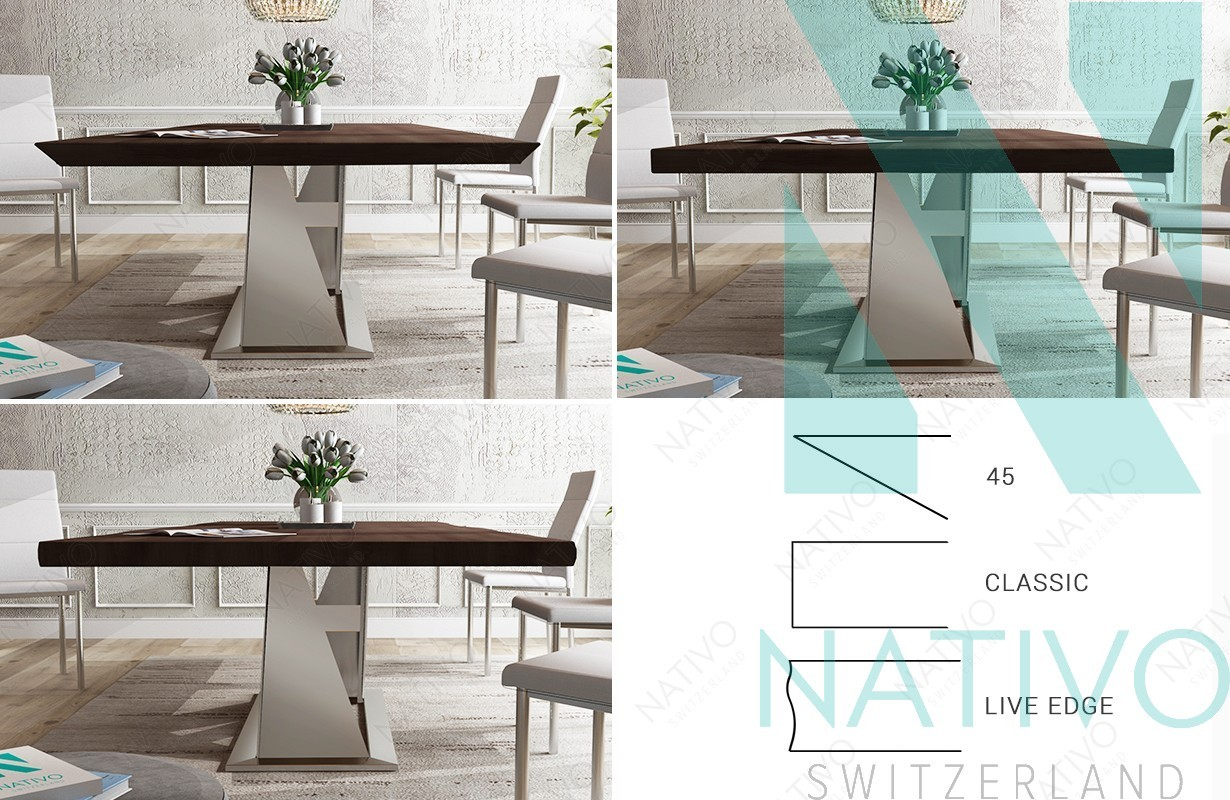 Table design AVALON v.1- NATIVO mobilier design Suisse