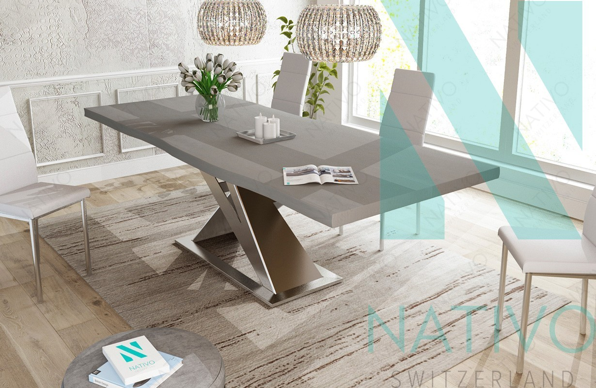 designer massivholz esstich avalon v 1 von nativo m bel schweiz. Black Bedroom Furniture Sets. Home Design Ideas