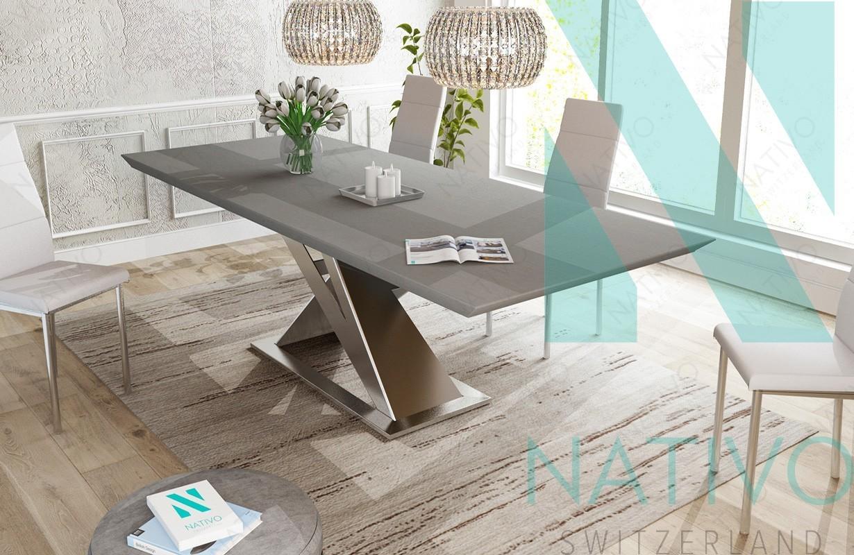 Tavoli Da Pranzo In Legno Massello : Tavolo da pranzo avalon v.1 nativo mobili sala da pranzo