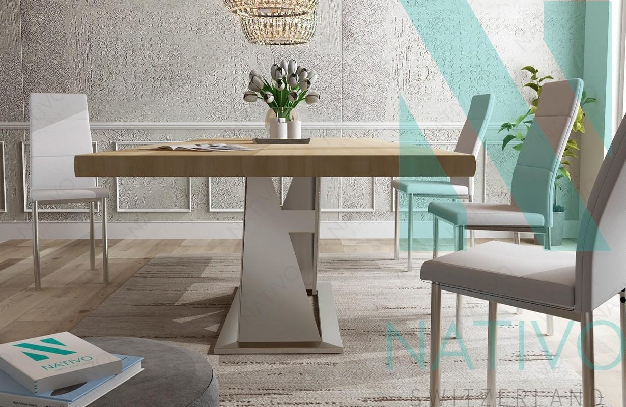 Designer Massivholz Esstich AVALON v.1 von Nativo Möbel Schweiz