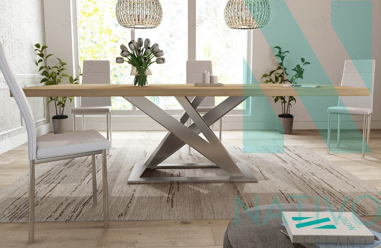 Tavoli Sala Da Pranzo In Legno : Tavolo da pranzo avalon v nativo mobili sala da pranzo