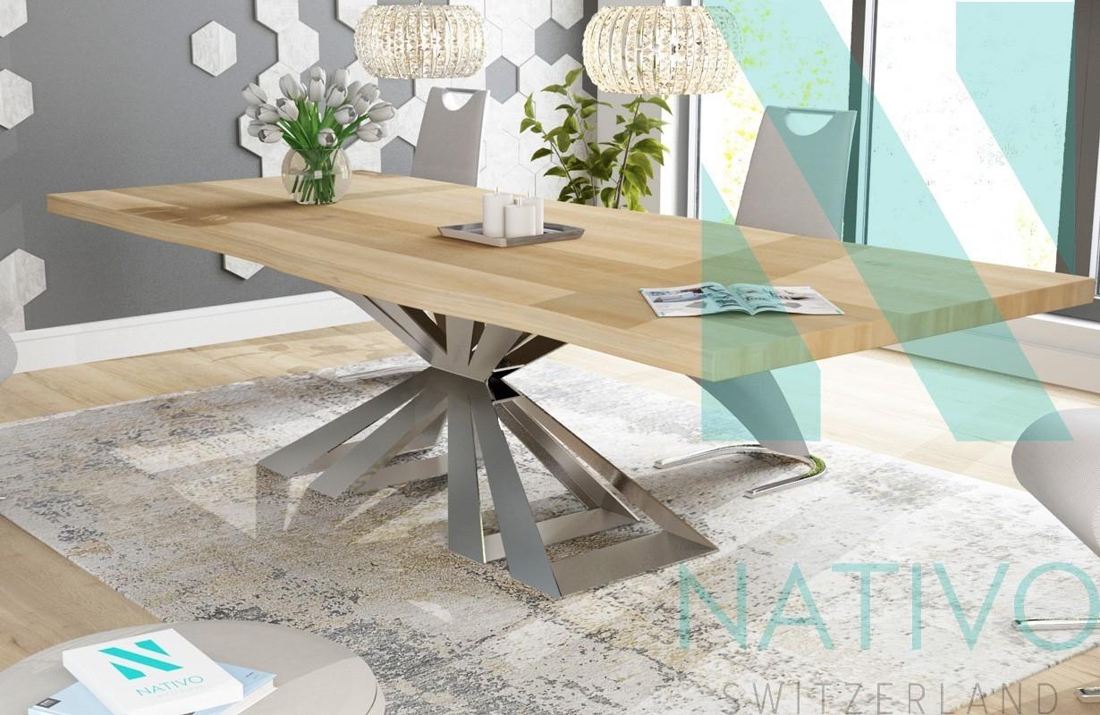 table design arthur v 1 nativo mobilier design suisse. Black Bedroom Furniture Sets. Home Design Ideas
