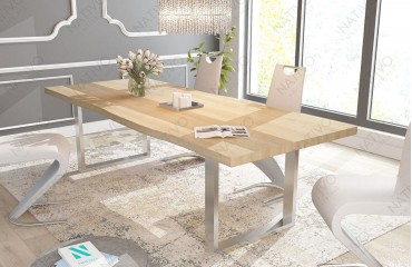Tavolo in legno MARLIN NATIVO mobili sala da pranzo