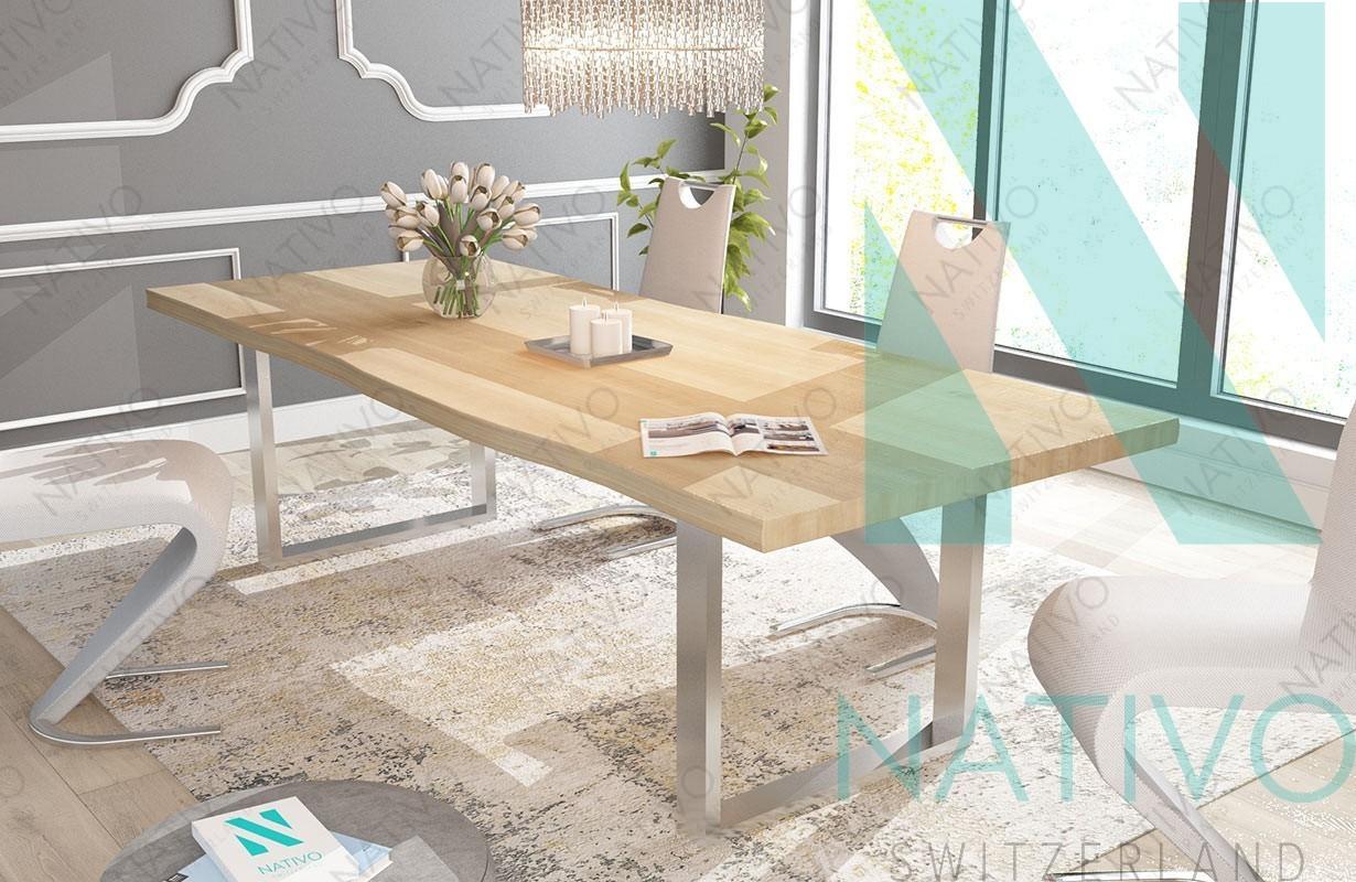 Tavoli Sala Da Pranzo In Legno : Tavolo in legno marlin nativo mobili sala da pranzo