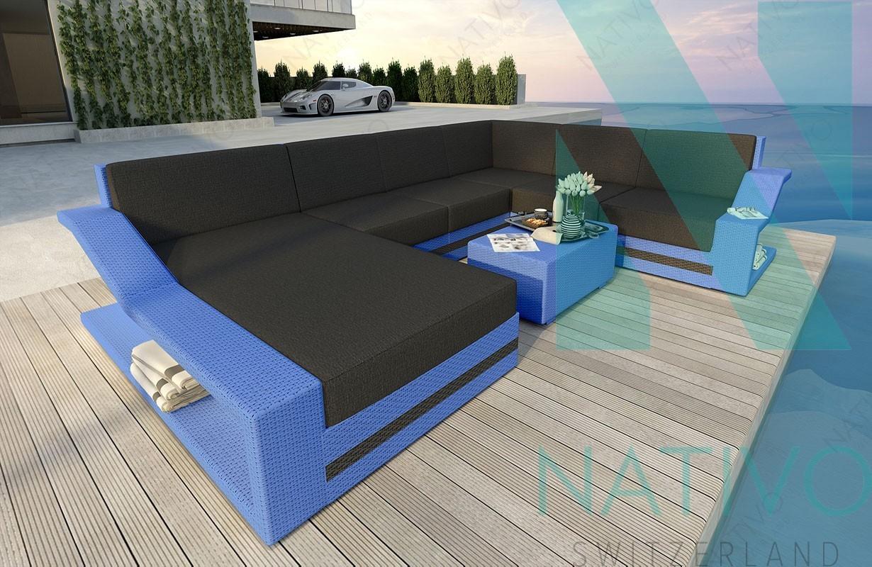 Rattan Sofa Lounge Modular MIRAGE XXL von NATIVO Möbel
